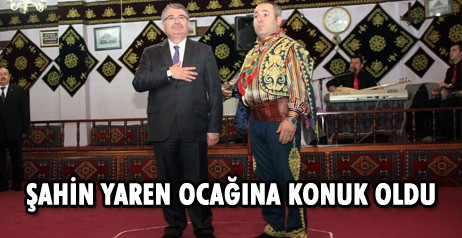 İçişleri Eski Bakanı İdris Naim Şahin, Vali Özcan'ı ziyaret etti ve Yaren Ocağına konuk oldu.