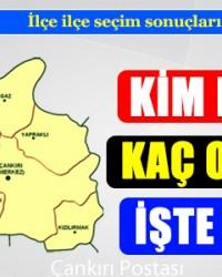 Çankırı ilçe ilçe 7 Haziran Genel Seçim sonuçları!