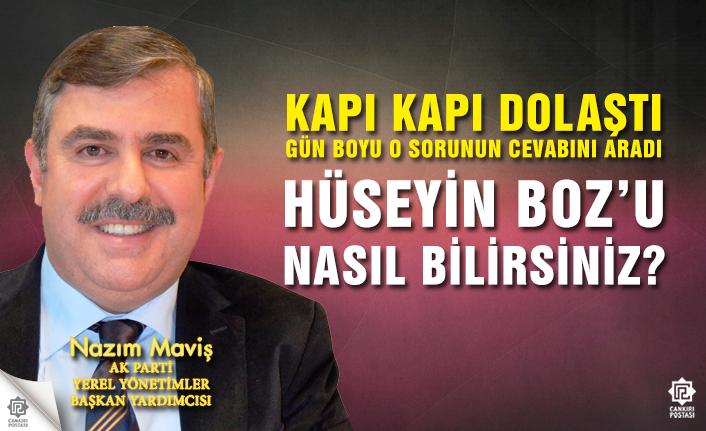 AK Partili Nazım Maviş, Hüseyin Boz'u halka...