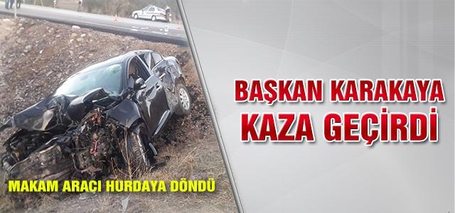 Başkan Karakaya Kaza Geçirdi