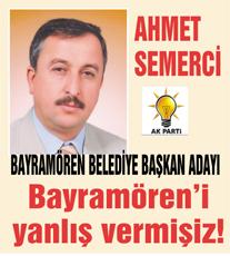 Son Dakika… Bayramören başkan adayı Ahmet Semerci