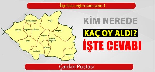 Çankırı 1 Kasım ilçe ilçe seçim sonuçları!