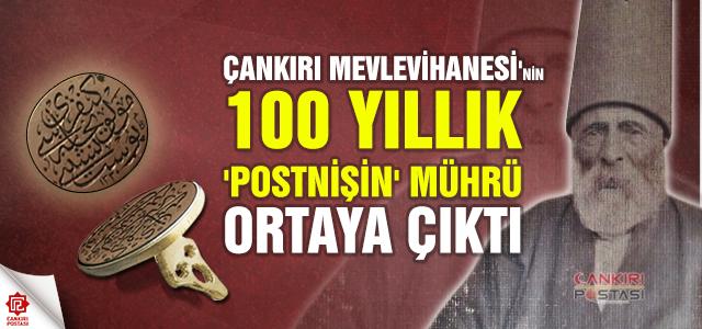 Çankırı Mevlevihanesi'nin 100 yıllık 'postnişin' mührü ortaya çıktı