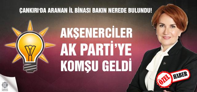 Çankırı'da Akşenerciler Ak Partiye komşu geldi