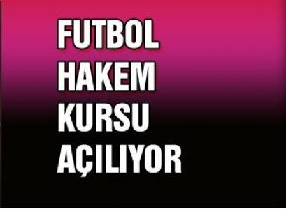 Çankırı'da Futbol Aday Hakem Kursu Açılıyor