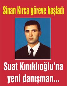 Milletvekili Suat Kınıklıoğluna yeni danışman…