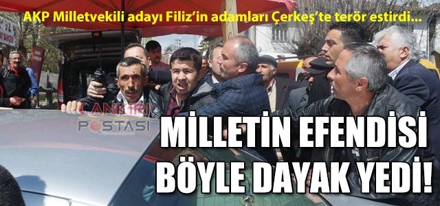 Filiz'i protesto eden vatandaşa dayak!