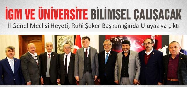 İGM ve Üniversite bilimsel işbirliğine hazırlanıyor