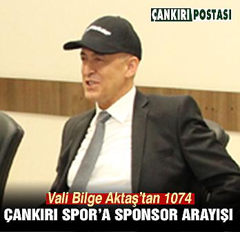 Vali Aktaş'tan 1074 Çankırı Spor'a sponsor...