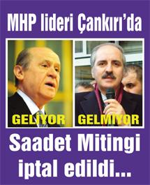 MHP Lideri Bahçeli yarın Çankırıda…