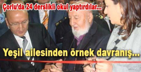 Çankırılı işadamının yaptırdığı okulu Bakan Çubukçu açtı.