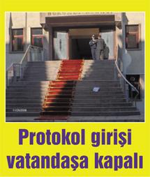 Valilik protokol kapısı vatandaşa kapandı