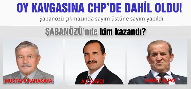 Şabanözü seçimlerine bu sefer CHP itiraz etti