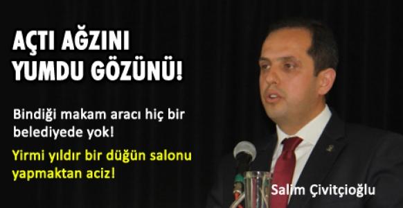 Salim Çivitçioğlu MHPli Belediye Başkanına yüklendi