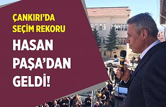 Çankırı'da seçim rekorunu Hasan Paşa kırdı