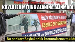 Bu pankart Davutoğlu'nun korumalarına takıldı!