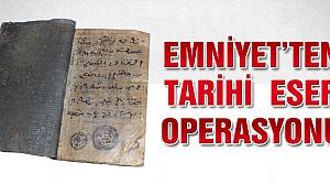 Çankırı'da el yazması kitap ele geçirildi!