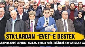 Çankırı'da bazı STK'lardan 'evet'e destek