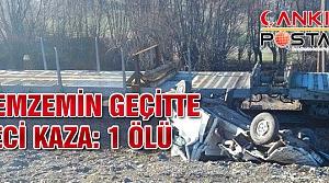 Hemzemin geçitte tren kamyonete çarptı! 1 kişi öldü