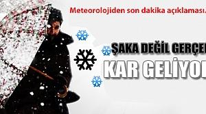 Meteoroloji uyardı kar geliyor!