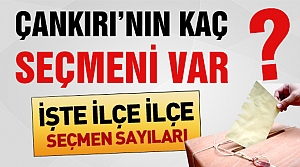 Referandum da Çankırı'da kaç seçmen var?