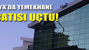 Uluyazıı'da KYK çatısı uçtu!