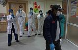 Çankırı'da koronavirüsü yenen hasta alkışlarla taburcu edildi!
