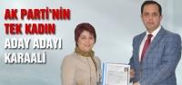 AK Parti'nin tek kadın adayı...