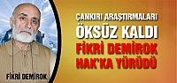 Araştırmacı- yazar Fikri Demirok Hakka yürüdü!
