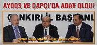 Aydos ve Çapçı'da aday oldu!