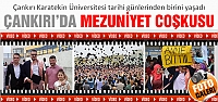 Çankırı Karatekin Üniversitesinde mezuniyet...