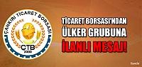 """Çankırı Ticaret Borsası'ndan Ülker grubuna """"geçmiş olsun"""" mesajı!"""