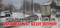 Çankırı'da Yayaya araç çarptı! 1 kişi öldü.