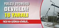 Çankırı'da yolcu otobusu devrildi! 18...