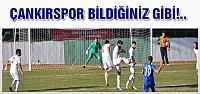 Çankırıspor kayıpları oynadı!