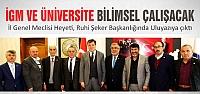 İGM ve Üniversite bilimsel işbirliğine...