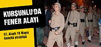 Kurşunlu'da 19 Mayıs fener alayı
