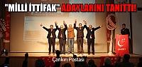 """""""Milli İttifak"""" Çankırı'da milletvekili adaylarını tanıttı!"""