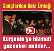 Video İzle - Kurşunlu gençlerinden Vefa Gecesi…