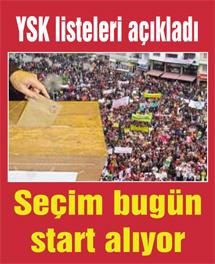 YSK kesin listeleri bugün ilan etti