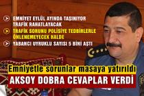 Emniyet Müdürü Aksoy'dan dobra cevaplar!