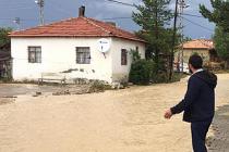 Karamustafa köyünde sel felaketi!