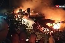 Çankırı'da samanlık ve ev yangında küle döndü