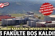 Çankırı Karatekin Üniversitesi'nde 3 Fakülte boş kaldı!