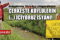 Çerkeşlilerden  Filiz'in besi çiftliğine protesto