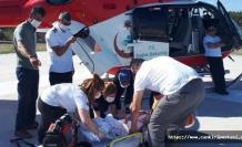 Çankırı'da hava ambulansı üzerine televizyon düşen bebek için havalandı!