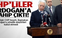CHP'liler Erdoğan'a sahip çıktı!