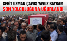 Şehit Uzman Çavuş Yavuz Bayram son yolculuğuna uğurlandı