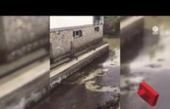 Çankırı'da dün yaşanan sel anı amatör kameralara yansıdı!