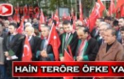 Hain saldırı Çankırı'da protesto edildi!